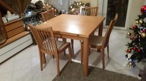 Tavolo allungabile con 4 sedie (sedie in omaggio)