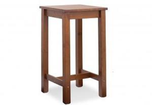 Tavolo alto da bar in legno di pino - 60X60X110
