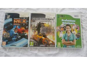 Wii nintendo lotto 3 giochi videogame box e istruzioni