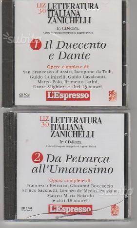 6 CD-ROM nuovi letteratura italiana Zanichelli