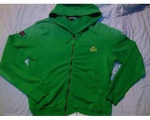 Felpa Lonsdale, colore verde, taglia L, nuova