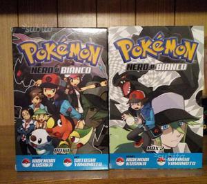 Pokemon Nero e Bianco manga box 1-2 completi