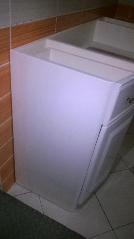 mobile bagno bianco bieffe ad incasso marmo