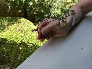 "montatura x occhiali da vista da uomo di marca ""Luxottica"""