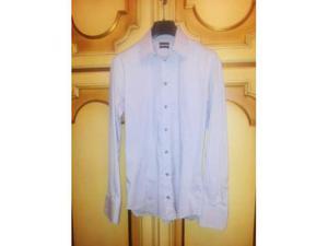 Camicia da uomo Patrizia Pepe color ghiaccio, Tg.46 o M