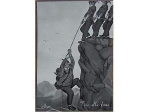 Cartoline umoristiche Alpini, in bianco e nero