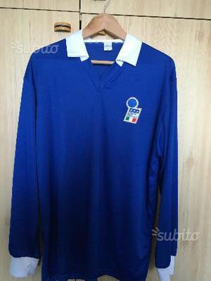 MAglia Calcio ITALIA Vintage 80's Rara - XL