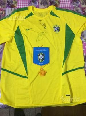 Maglia Brasile autografata emerson e Mancini