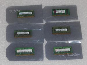 Memorie RAM 1GB DDR3 DDR2 So-dimm Notebook