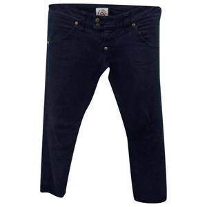 pantaloni blu 100% puro cotone tg 26
