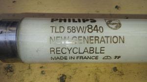 100 tubi al neon 58 watt 150 cm  k philips 50 tubi 36