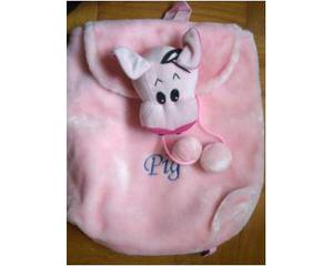 Borsetta rosa, morbida, a forma di porcellino