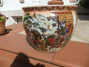 vaso in ceramica cinese bianca, grande