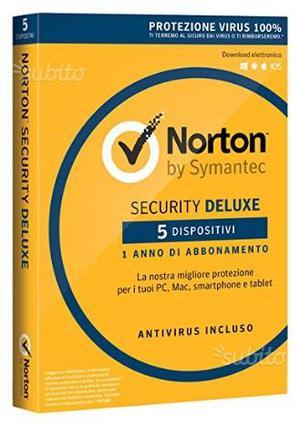Licenza Norton Deluxe per 5 dispositivi per 1 anno