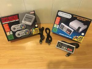 NES classic mini+2 prolunghe+2° controller + SNES classic
