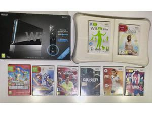 Nintendo Wii + Balance + nunchuck + 8 giochi
