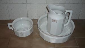 Set antico da bagno in ceramica