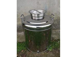Contenitore tank in acciaio inox per olio o vino litri 75