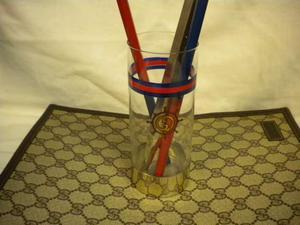 Gucci bicchiere vetro anni 70 originale vintage