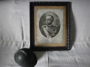 Alinari: Grande foto V.E.III incorniciata d'epoca