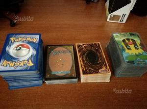 Carte yu gi oh magic pokemon in blocco