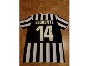 Maglia originale Juventus autografata Llorente