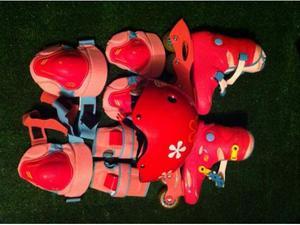 Roller bambina più casco più protezioni