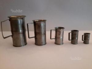 Serie di misurini per liquidi, olio, rosolio, lat