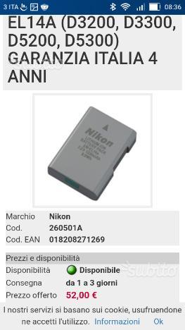 Batteria x nikon En - EL 14