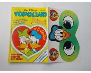 TOPOLINO n. con copertina adesiva+mascherina cond.