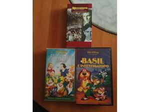 VHS originali Walt Disney: Biancaneve, Basil investigatopo;