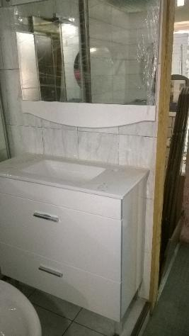 mobili bagno bianco consolle in resina