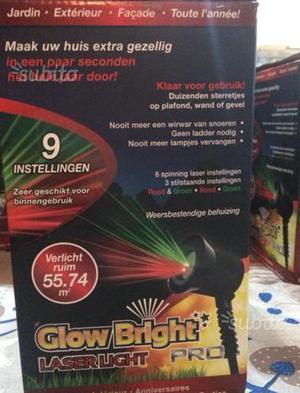 Lampada LED laser con luce colorata