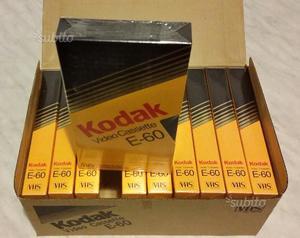 10 videocassette vhs kodak e-60 nuovo cellophane