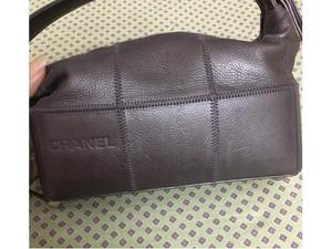 Borsa Vintage Chanel pelle color cioccolato