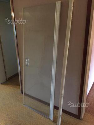 Porta spazzolino da parete cromo vetro satinato posot class - Parete in vetro satinato ...