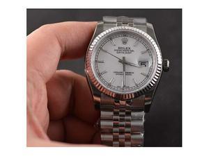 Rolex datejust 36mm white dial 11 roman e non