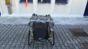 Carrello trasporto cani bici