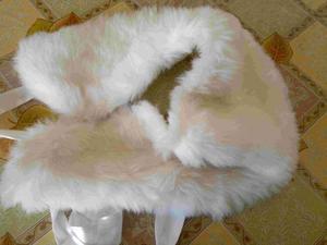 Stola stola collo in eco pelliccia bianco nuovo euro 10