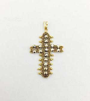Ciondolo croce mobile in oro