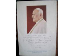 Foto dedica e firma di Papa Giovanni XXIII