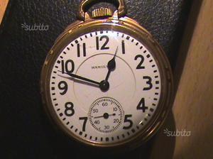 Orologio da tasca Hamilton in oro 10 KT