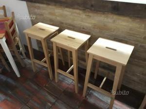 Sgabelli e tavolo penisola in legno ikea posot class