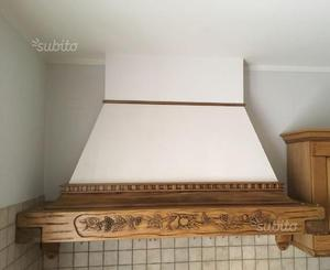 Cappa cucina in legno massello