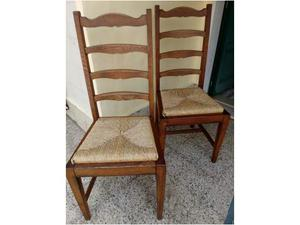 Coppia sedie in Castagno - Epoca 900 - Antiquariato
