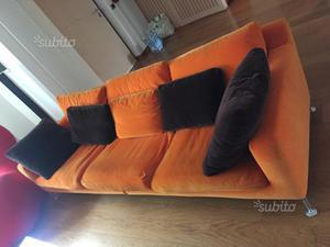 Divano Arancione E Marrone : Divano 4 posti siam39s posot class