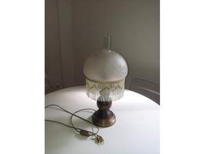 Lampada Vintage Vetro, Ottone e Legno
