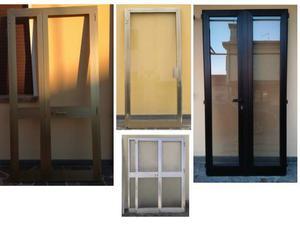 Finestra vetro retinato alluminio anodizzato posot class - Misure porta finestra ...