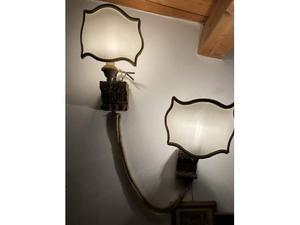 SET di tre lampade a parete artigianali