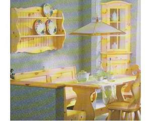 Soggiorni rustici cod 637 in legno completi nuovi affare